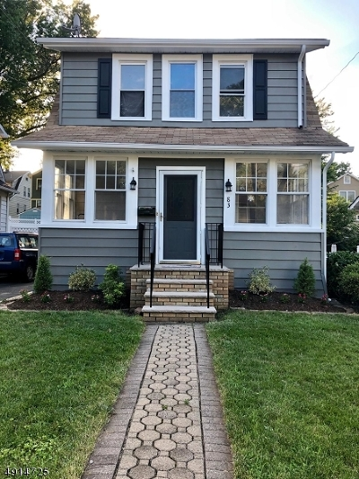 Nutley Twp. NJ Single Family Home For Sale: $420,000