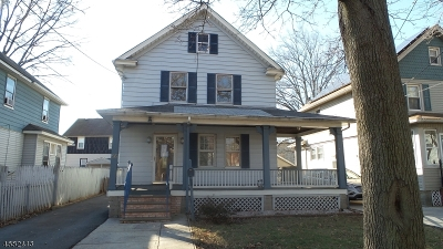 Rahway City NJ Single Family Home Under Contract: $200,000
