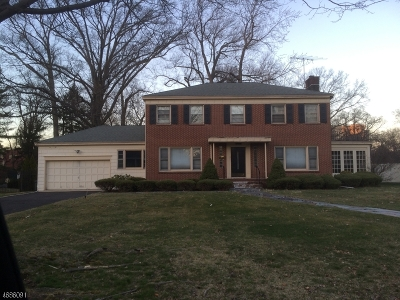 South Orange Village Twp. Single Family Home For Sale: 393 Hartford Rd