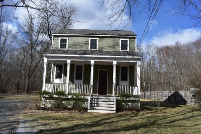 Bedminster Twp. Single Family Home For Sale: 1833 Black River Rd