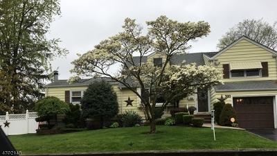 Rahway City Single Family Home For Sale: 320 Rudolph Ave
