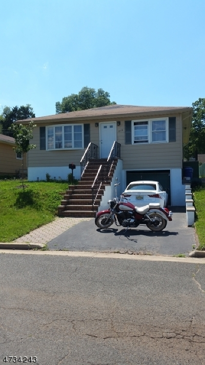 RAHWAY Single Family Home For Sale: 210 Remsen St