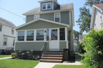 Roselle Park Boro Single Family Home For Sale: 210 Sherman Ave
