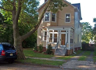 RAHWAY Single Family Home For Sale: 52 Maple Ave