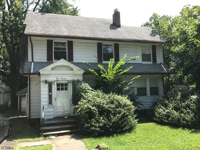 South Orange Village Twp. Single Family Home For Sale: 270 Walton Ave