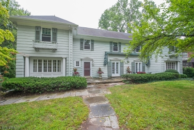 South Orange Village Twp. Single Family Home For Sale: 222 Wyoming Ave
