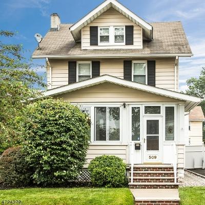 Garwood Boro Single Family Home For Sale: 509 East St