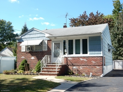 Rahway City NJ Single Family Home For Sale: $229,000