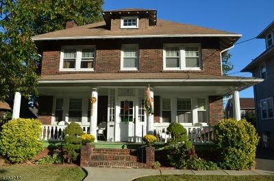 ELIZABETH Single Family Home For Sale: 69-71 Hillside Rd