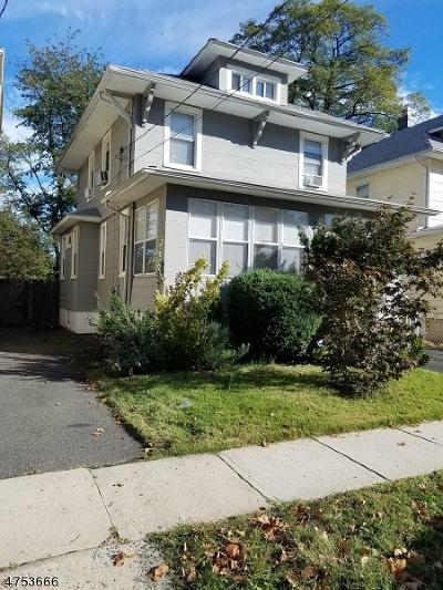 HILLSIDE Single Family Home For Sale: 129 Coe Ave