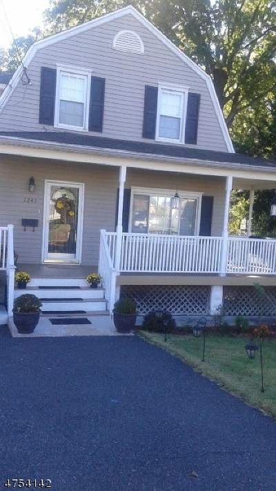 Rahway City Single Family Home For Sale: 1243 Madison Hill Rd