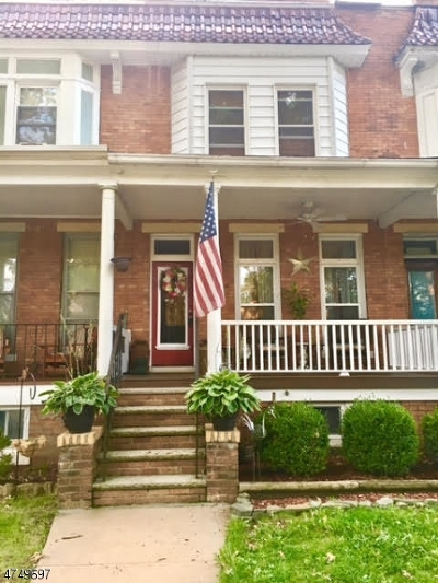 RAHWAY Single Family Home For Sale: 1378 Bryant St