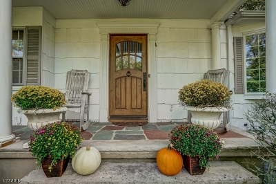 Millburn Twp. Single Family Home For Sale: 34 Hickory Rd