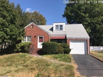 HILLSIDE Single Family Home For Sale: 839 Irvington Ave