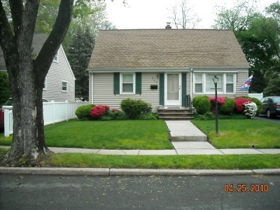 RAHWAY Single Family Home For Sale: 217 Linden Ave