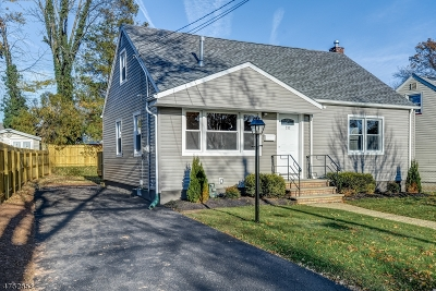 RAHWAY Single Family Home For Sale: 797 Rodgers Ct