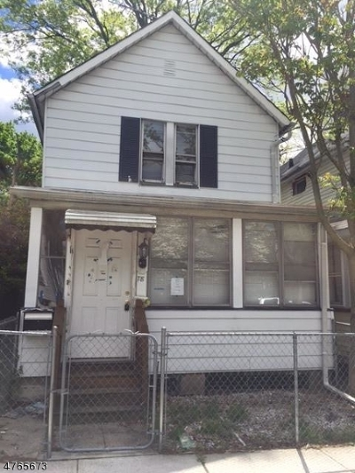 West Orange Twp. Single Family Home For Sale: 78 Mitchell St