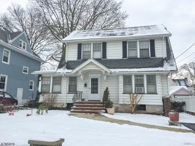 Westfield Town NJ Single Family Home For Sale: $499,000