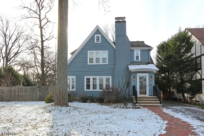 Westfield Town NJ Single Family Home For Sale: $1,100,000