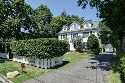 Westfield Town NJ Single Family Home For Sale: $1,325,000