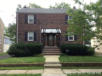 RAHWAY Single Family Home For Sale: 1735 Park St