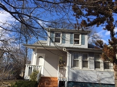 Cranford Twp. Single Family Home For Sale: 42 Cranford Ter