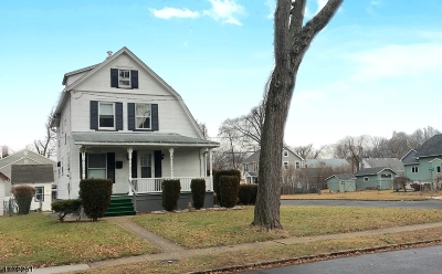 Westfield Town NJ Single Family Home For Sale: $349,000