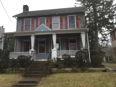 Bloomsbury Boro Single Family Home For Sale: 51 Main St