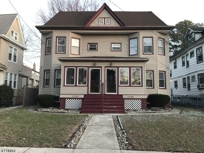 Rahway City Multi Family Home Active Under Contract: 1145-9 Fulton St