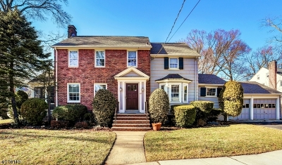 Maplewood Twp. Single Family Home For Sale: 47 Headley Pl