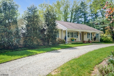 Peapack Gladstone Boro Single Family Home For Sale: 35 Old Chester Rd