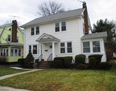 Rahway City Single Family Home For Sale: 493 W Lake Ave