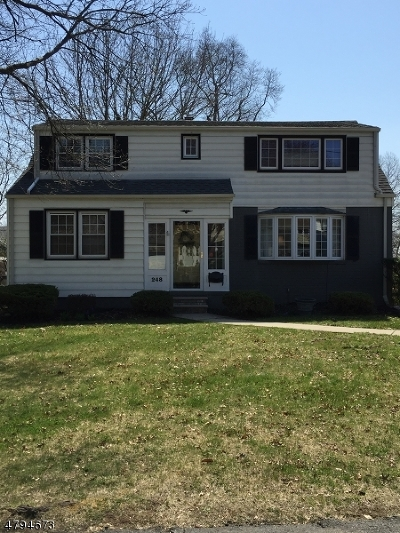 Nutley Twp. Single Family Home For Sale: 248 Ridge Rd