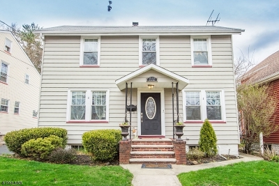 Nutley Twp. Single Family Home For Sale: 212 Grant Ave