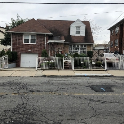 Newark City NJ Single Family Home For Sale: $380,000