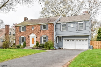 Scotch Plains Twp. Single Family Home For Sale: 20 Homestead Ter