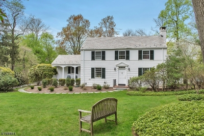 Berkeley Heights Twp. Single Family Home For Sale: 50 Middle Way