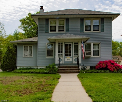 Cranford Twp. Single Family Home For Sale: 215 Retford Ave