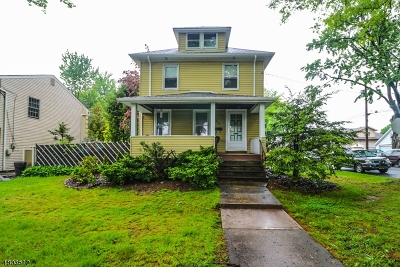 ROSELLE PARK Single Family Home For Sale: 337 W Lincoln Ave