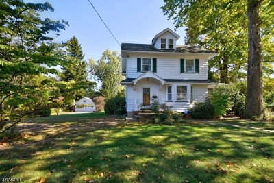 WESTFIELD Single Family Home For Sale: 444 Mountain Ave