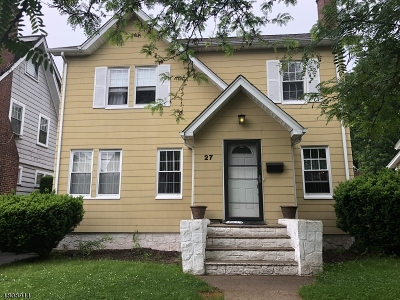 Maplewood Twp. Single Family Home For Sale: 27 Overlook Ter