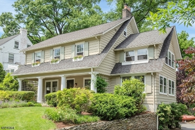 Montclair Twp. Single Family Home For Sale: 9 Wellesley Rd