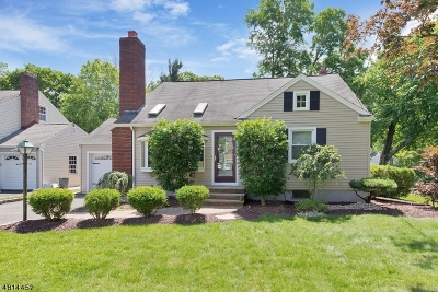 Cranford Twp. Single Family Home For Sale: 598 Brookside Pl