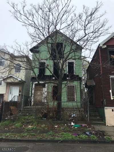 Newark City NJ Single Family Home Sold: $45,000