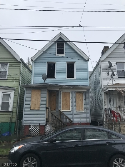 Newark City NJ Single Family Home For Sale: $55,000