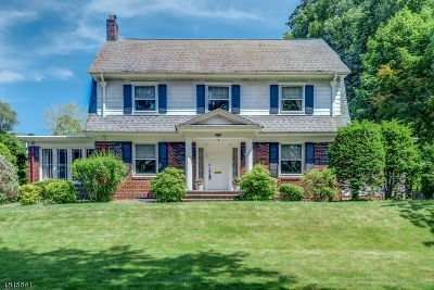 South Orange Village Twp. Single Family Home For Sale: 292 Scotland Rd