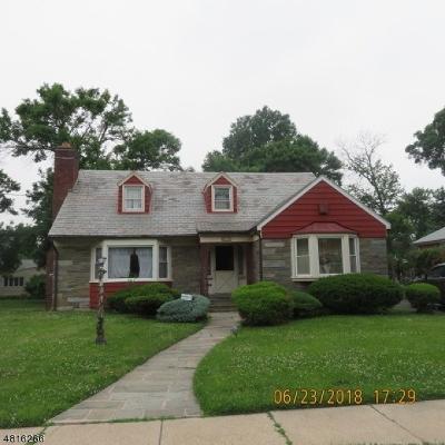 Hillside Twp. Single Family Home For Sale: 610 Irvington Ave