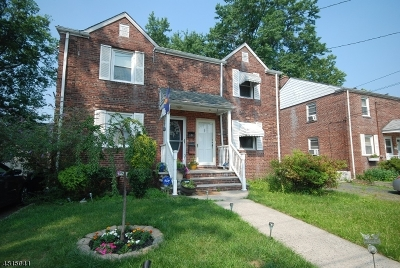 RAHWAY Single Family Home For Sale: 368 Raleigh Rd