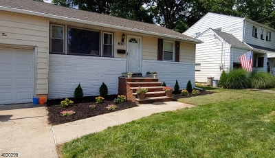 LINDEN Single Family Home For Sale: 610 Birchwood Rd