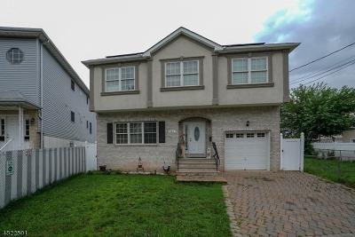 ELIZABETH Single Family Home For Sale: 459-461 Edgar Rd